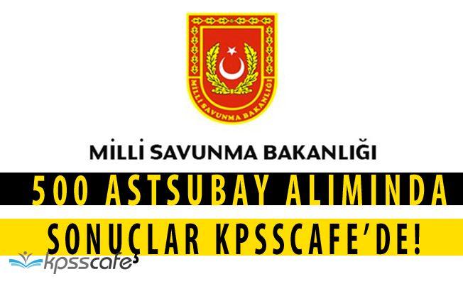 Milli Savunma Bakanlığı 500 Astsubay Alımı Sonuçlandı! Sorgu Ekranı KPSSCAFE'de