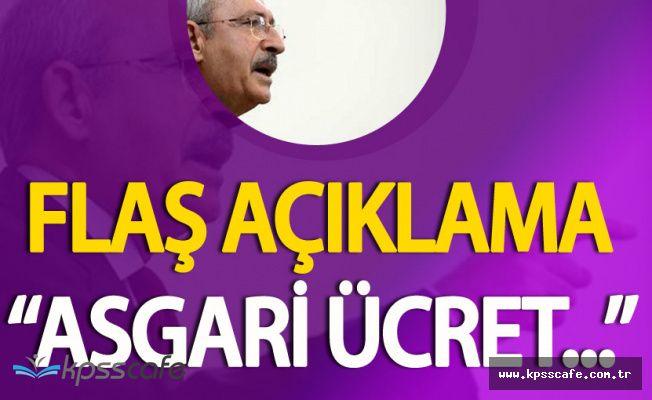 CHP Genel Başkanı Kılıçdaroğlu'ndan Son Dakika Asgari Ücret Açıklaması
