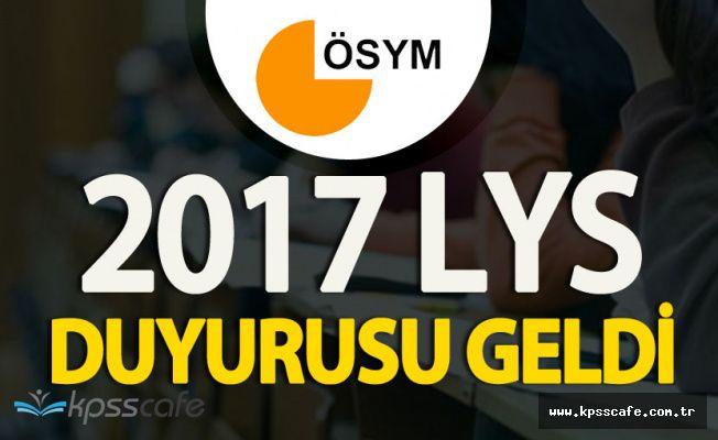 ÖSYM'den 2017 LYS Duyurusu Geldi