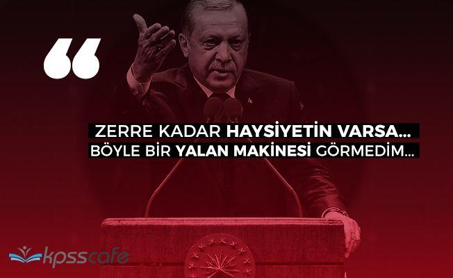 """Cumhurbaşkanı Erdoğandan Kılıçdaroğluna: """"Yalan makinesi"""""""