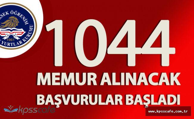 KPSS En Az70 Puanla 1044 Memur Alınacak! (Başvurular Başladı)
