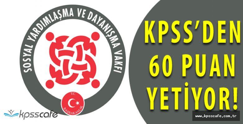 Kpss60 Puan Şartı ile SYDV Kamu Personelleri Alımı Başvuruları Başladı