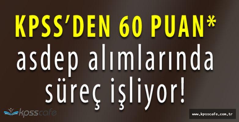 KPSS'den en az 60 Puan Almış Adaylardan Danışma Yönlendirme Elemanları Alınacak