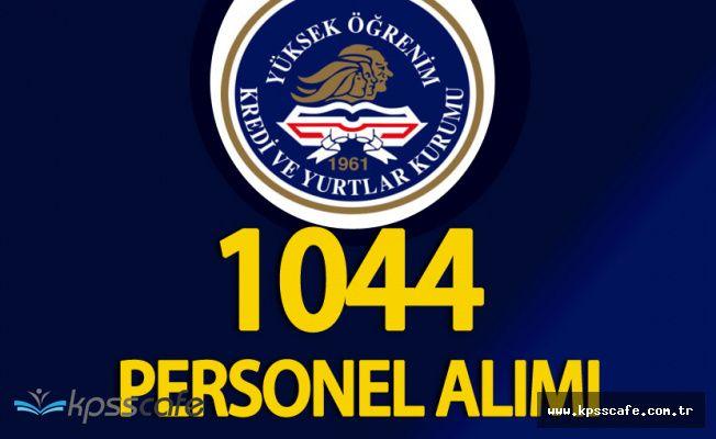 KYK 1044 (601 Kadın, 443 Erkek) Personel Alımı Başvuruları Sürüyor