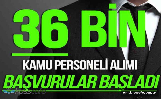 3 Bakanlık 36 Bin Kamu Personeli Alacak (Memur , Asker, Polis )