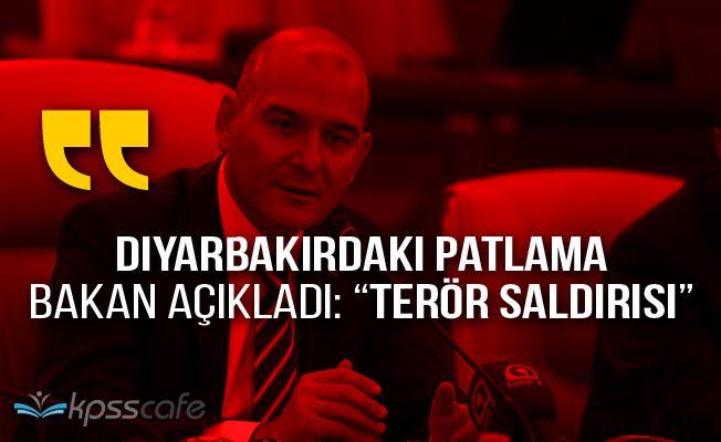 Son Dakika: Bakan Açıkladı! Diyarbakır Patlaması Terör Saldırısı