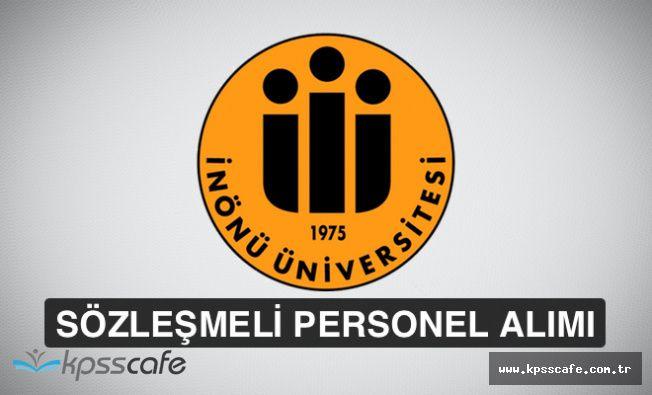 İnönü Üniversitesi 93 Adet Sözleşmeli Personel Alımında Bulunacak