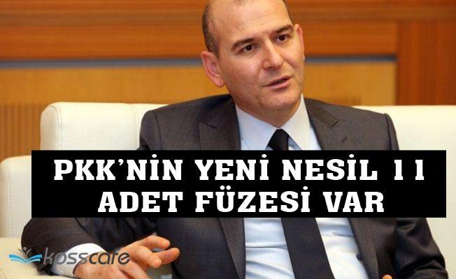 """İçişleri Bakanı Soylu: """"PKK'nin elinde 11 yeni nesil füze var"""""""