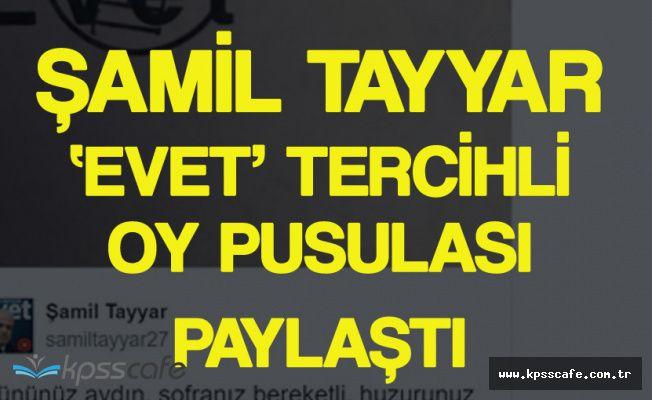 'Evet' Mührü Basılmış Oy Pusulasını Paylaşan Tayyar'a Tepki
