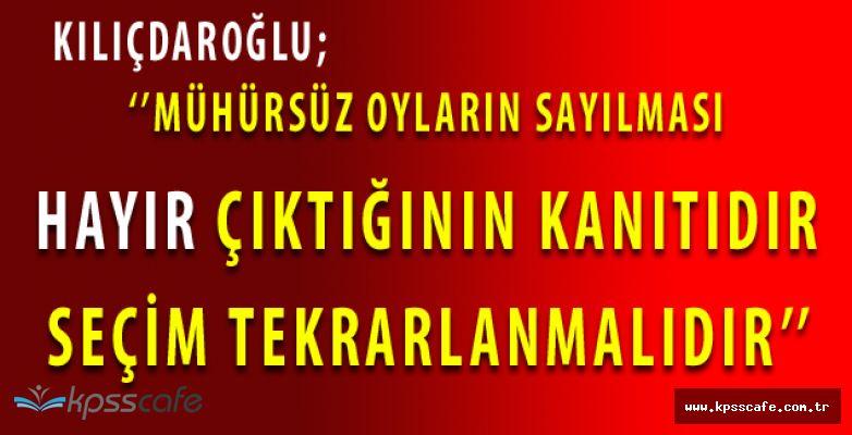 """YSK'ya Başvuracak Olan Kılıçdaroğlu'ndan Kritik Açıklama! ''..Sandıktan """"HAYIR"""" çıktığının açık kanıtıdır. Seçim Tekrarlanmalıdır!''"""