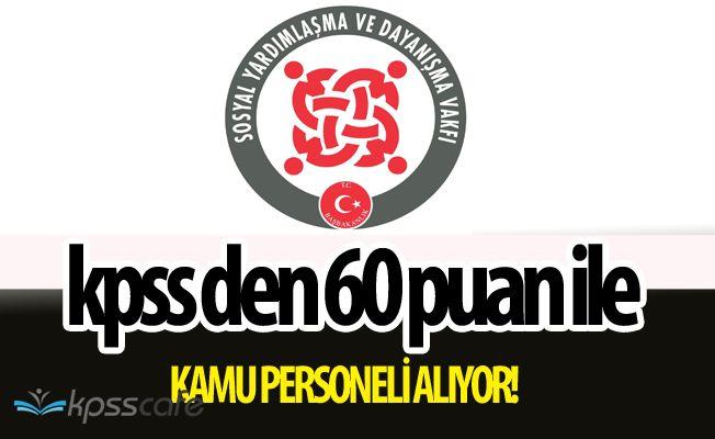 SYDV Kurumuna KPSS'den 60 Puan ile Personel Alımları Yapılacak! Başvurular Başladı