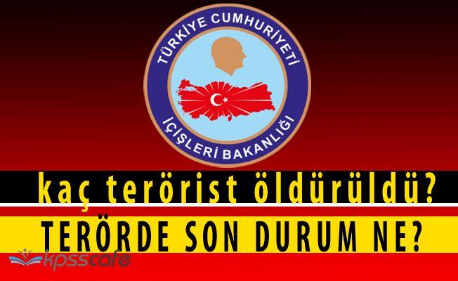 İçişleri Bakanlığı'ndan Kritik Terör Açıklaması! (Sayısal Veriler)