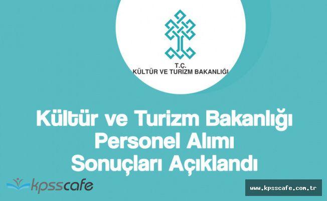 Kültür ve Turizm Bakanlığı 400 Memur Alımı Sonuçları Açıklandı!