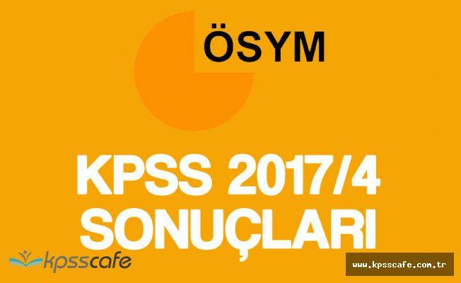 ÖSYM'den KPSS 2017/4 Duyurusu! Sonuçlar Açıklandı