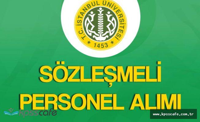 İstanbul Üniversitesi 30 Sözleşmeli Personel Alacak (KPSS 55 Puan )