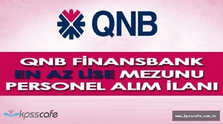 QNB Finansbank Lise Mezunu Satış Temsilcisi Alımlarında Bulunacak