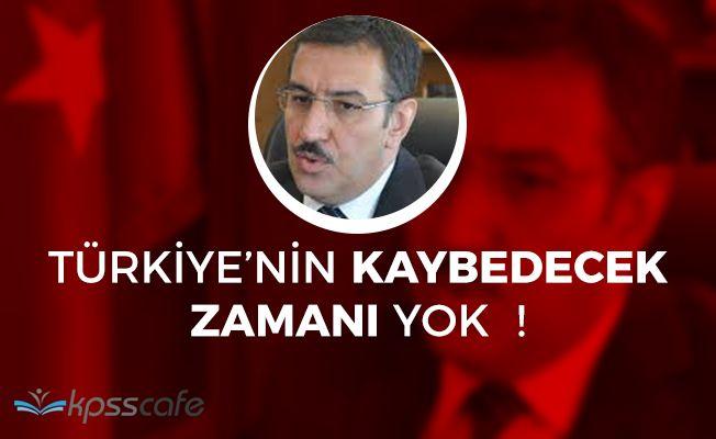 """Gümrük Bakanı Tüfenkçi: """"Kaybedecek zaman yok"""""""