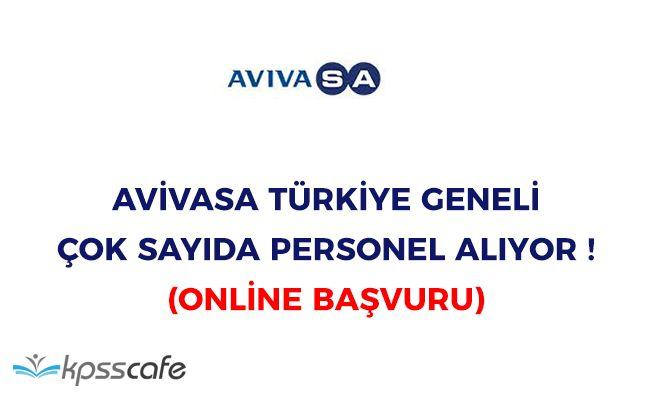 AvivaSA Türkiye Geneli Çok Sayıda Personel Alıyor! Online Başvuru
