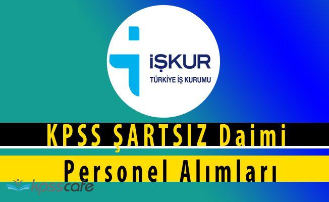 Sulama Birliği Kurumlarına ve Belediyelere KPSS ŞARTSIZ Daimi Personel Alımları (Online Başvuru)