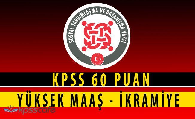 KPSS 60 Puan - Dolgun Ücret SYDV Personel Alımı