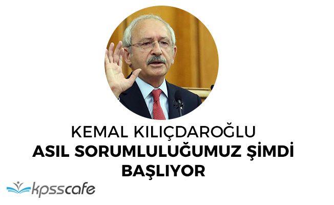 """CHP Lideri Kılıçdaroğlu """"Referandumu özgürlükçü bir ortamda yapmadık"""""""