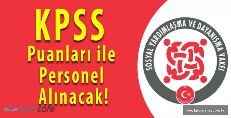 SYDV Kurumuna KPSS Puanları ile Personel Alınacak! Başvurular Başladı