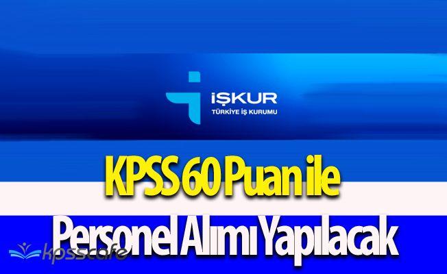 Belediye Başkanlığına KPSS 60 Puan ile Personel Alımı Yapılacak
