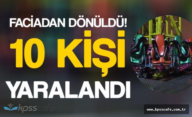 Konya'da Lunapark Faciasından Dönüldü! 10 Kişi Yaralı