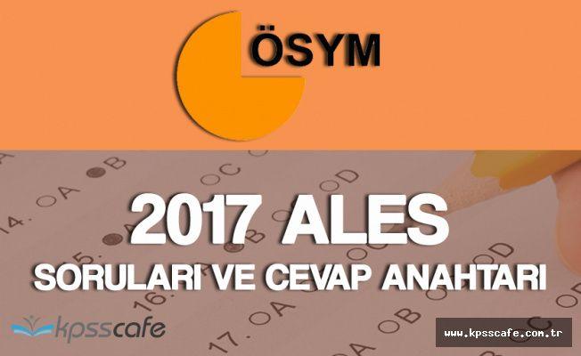 2017 ALES İlkbahar Dönemi Soruları ve Cevap Anahtarı Yayımlandı