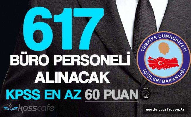 Nüfus Dairelerine KPSS En Az 60 Puanla 617 Önlisans Mezunu Büro Personeli Alınacak!
