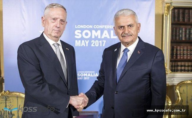 """Yıldırım ile Görüşen ABD Savunma Bakanı; """"Türkiye'nin güvenliğine önem veriyoruz"""""""
