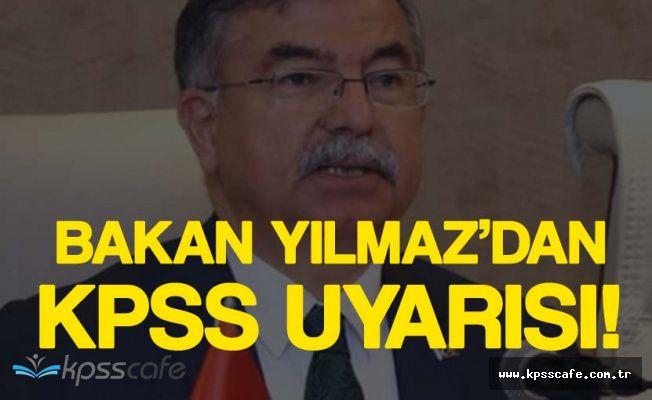 Son Dakika: Milli Eğitim Bakanından KPSS Uyarısı!