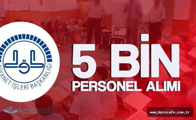 Diyanet İşleri Başkanlığı 5 Bin Personel Alacak! (Ek Ders Ücreti Karşılığında Alım)