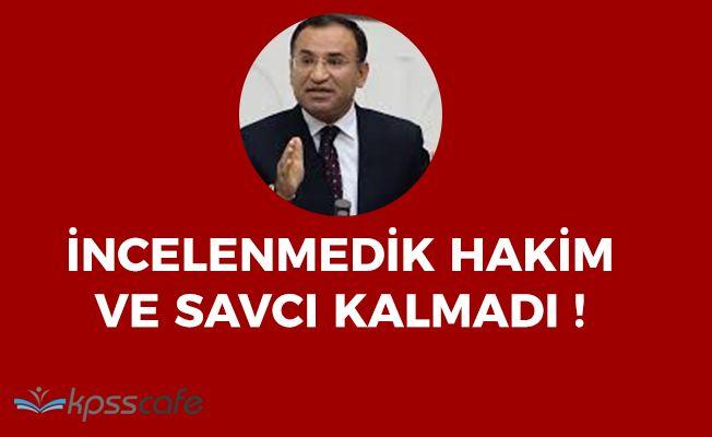 """Adalet Bakanı Bozdağ: """"İncelenmedik hakim ve savcı kalmadı"""""""