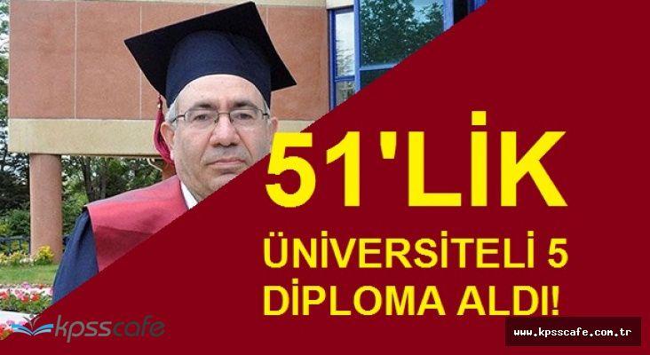 51 Yaşına Kadar 5 Üniversite Bitirdi! Sırada ise Hukuk Fakültesi Var