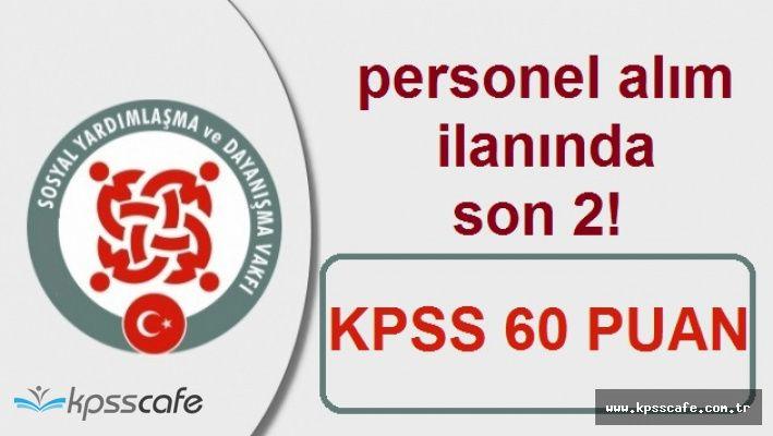KPSS'den 60 Puan ile Büro Memuru Alımında Süreç Sona Eriyor