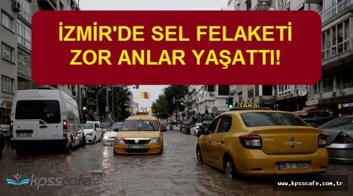 İzmir Halkı Perişan Oldu! Sel Bastı, Araçlar Sürüklendi, Zincirleme Kazalar Gerçekleşti