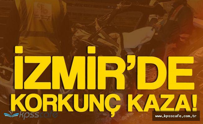 İzmir'de Korkunç Kaza! 3 Kişi Öldü, 1 Kişi Yaralandı