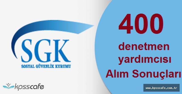 Sosyal Güvenlik Kurumu 400 Personel Alım Sonuçları Açıklandı!
