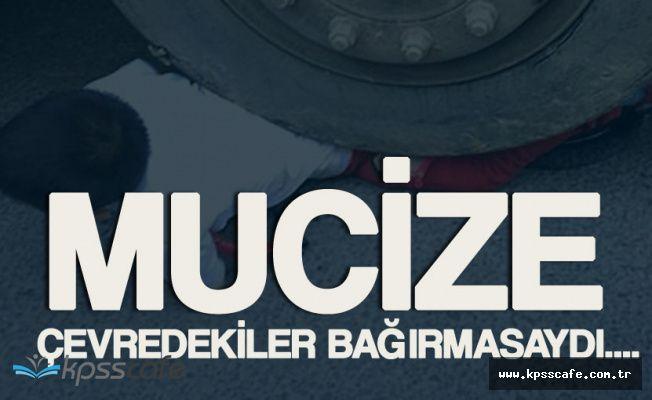 İstanbul'da Mucize! Hafriyat Kamyonunun Altından Şans Eseri Kurtuldu
