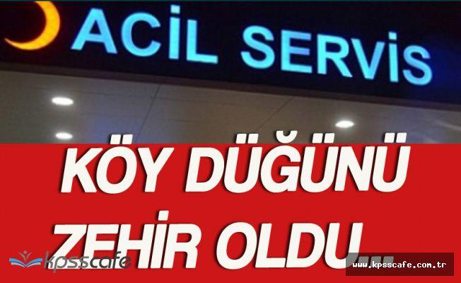 Ardahan'da Köy Düğününde Zehirlenen 143 Kişi Hastaneye Kaldırıldı!