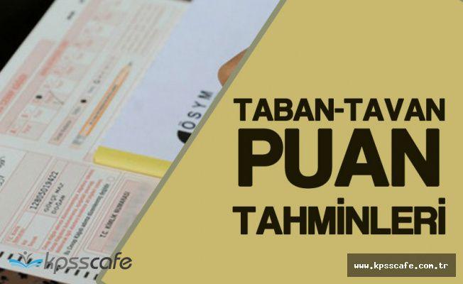 KPSS 2017/1 Tavan- Taban Puan Tahminleri!