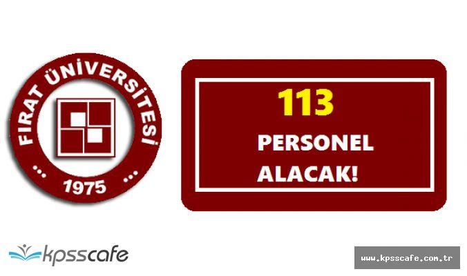 Fırat Üniversitesi 113 Personel Alımı Yapıyor! Süreç Başladı