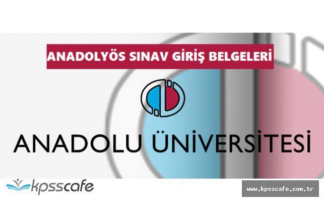 ANADOLUYÖS 2017 Sınav Giriş Belgeleri Adayların Erişimine Açıldı