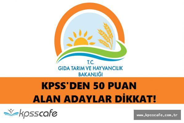 KPSS'den 50 Puan Yeterli! Tarım ve Hayvancılık Bakanlığı Memur Alımında Bulunacak