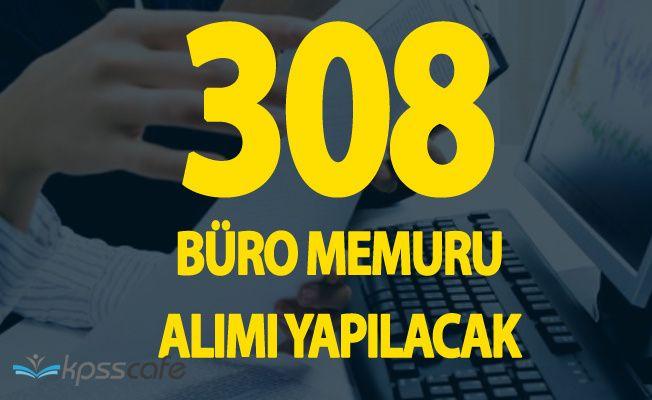 İŞKUR Duyurdu ! 308 Büro Memuru Alımı Yapılacak