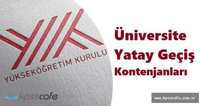 YÖK Üniversite Yatay Geçiş Kontenjanlarını Açıkladı