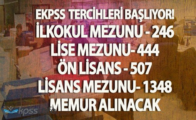 2 Bin 545 Memur Alımı Yapılacak (2017 EKPSS Tercihleri Başlıyor - Lisans, Önlisans, Lise, İlköğretim)