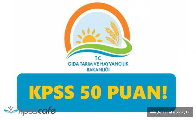 Memur Adayları Dikkat! Tarım Bakanlığı KPSS'den 50 Puan ile Personel Alımlarında Son Günler