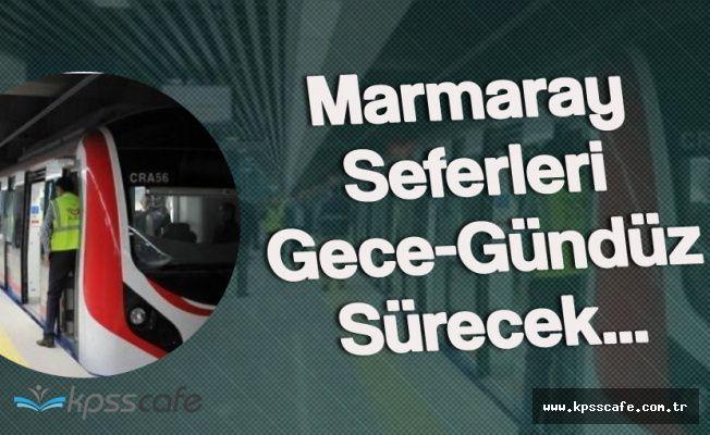 15-17 Temmuz Tarihlerinde Marmaray Ücretsiz